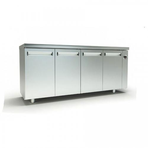 Refrigerated counter profiles and accessories